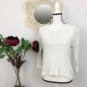 Madewell chunky open weave sweater XS